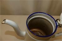 "Enamel Teapot 8"", Apple Peeler"