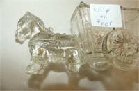 Austria Plate, 4 Glass Doll Bottles, Horse & Cart