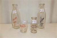 Milk Bottles--Listowel Dairies, Chrisies Dairy