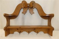3 Legged Wooden Stool, Wooden Wall Rack w/Pegs & S