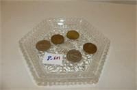 5 Coins--Centennial Dollar 1875-1975, Listowel 4 S