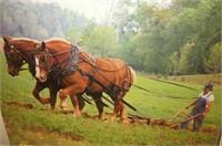 6 Brass Hames, 2 Draft Horse Calendars 1994 &