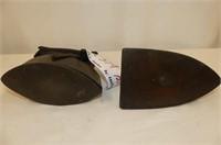 Asbestos Sad Iron w/Removeable Cover/Handle, Flat
