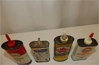 8 Tins--3 National Refrigerant, Gulf, Esso & Super