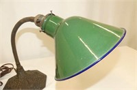 Cast Base Desk Lamp w/Green Shade