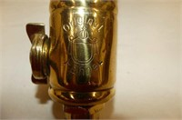 2 Brass Pieces--E. Hahnel Insecticide Sprayer (den