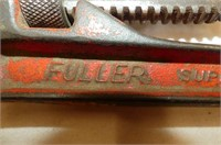 """Fuller 14"""" Pipe Wrench, 23 Pc. Ratchet Driver Bit"""