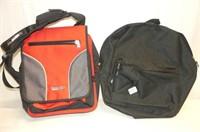 2 Backpacks--Red & Black Tracker, Black