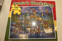 Red Tote (no lid), Blue Christmas Balls, Santa's