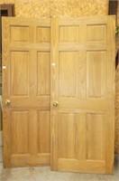 2 Wooden Doors w/Recessed Panels