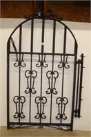 Iron Garden Gate w/Bracket