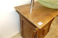 Oak Vanity with Basin Sink & Faucet