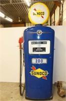 Bennett Gas Pump Restored Sunoco w/Working Lights