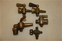 """11 Assorted Brass & Steel Valves, 14""""D Cast Hangin"""