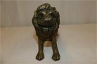 Cast Brass Lion Bank