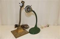2-Cast & Brass Base Desk Lamps