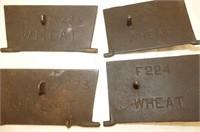 Wood Stove Crank E98, 4 'Wheat' Plates