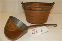 Copper Kettle w/Handle & Ladle