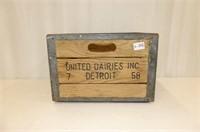 United Dairies Inc. Detroit Milk Crate