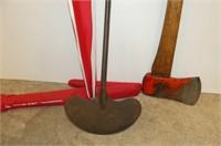 Axe, Scraper, Dunlop Umbrella