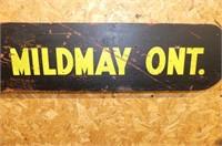 Lobsinger Bros. Ltd. Mildmay Ont. Wooden Panel