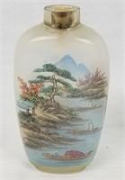 Vintage Glass Snuff Bottle Small Asian Art