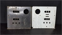 2 WAYNE PUMP FACE PLATES