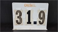 "16"" X 12""   METAL DOUBLE SIDED DIESEL PRICE SIGN"