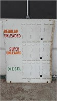DOUBLE SIDED METAL GAS PRICE SIGN