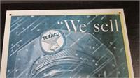 """WE SELL TEXACO"" TIN SIGN"
