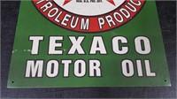 """TEXACO MOTOR OIL"" TIN SIGN"