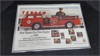 1962 NEW TEXACO TOY FIRE ENGINE AD
