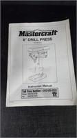 """MASTERCRAFT 8"""" DRILL PRESS"""