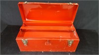 RED TOOL BOX WITH TRAY INSERT