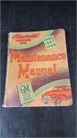 1946-48 GM MAINTENANCE MANUAL