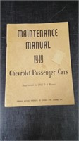 1949 CHEV CARS MAINTENANCE MANUAL