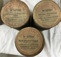 Lot of 46 Antique Edison Phonograph Cylinders