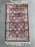 2 Small Rugs 1 Hooked 1 Short Wool Pile Rug