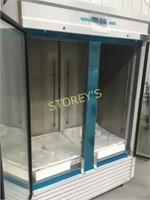 Coldline 2dr Glass Freezer on Wheels