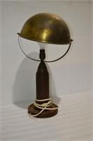 "Trench Art Lamp (rewired), 24"" tall"