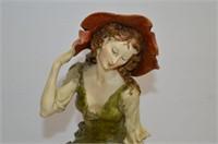 Capodimonte Figurine - Woman with Lamb