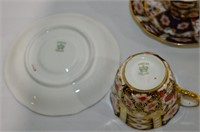 (2) Ansley Cups and Saucers