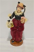 "Woman Caricature Carrying Hat Box, 12"" tall"