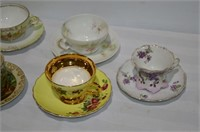 (7) Tea Cups and Saucers