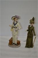(2) Figurines - Bon Voyage and Lillian