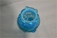"Blue Glass Vase, 4.5"" tall"