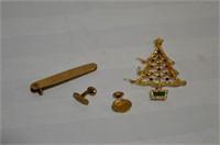 Vintage Pocket Knife, Cufflinks, and Christmas