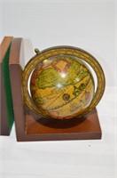 "World Globe Bookends, 6"" tall"