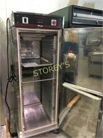 As New Bevles 2dr Rolling Heated Holding Cabinet