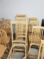 4 Unfinished Chairs